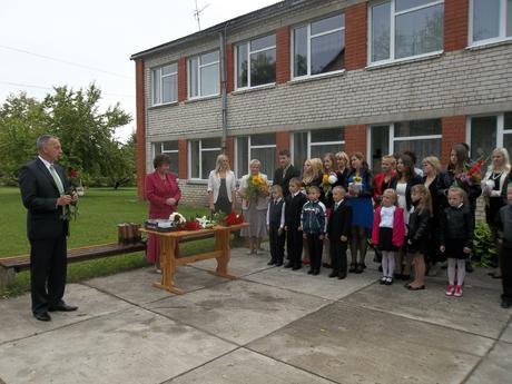 Pirmā skolas diena Palsmanes pamatskolā