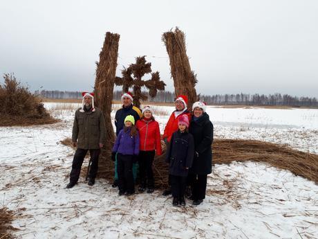 """Palsmanes pamatskolas komanda piedalās pirmajā """"Niedru skulptūru festivālā"""""""